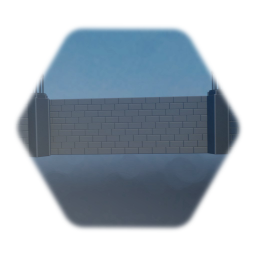 Large Brick Wall with Small  tower - no texture
