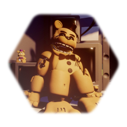 Witherd golden Freddy