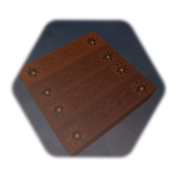 Gear Decorated Steampunk Wood Floor Tile