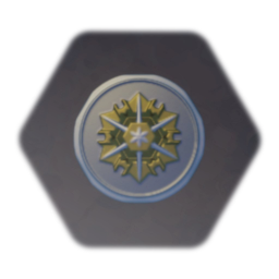 Shield - Silver and Gold - Sunspire Sigil