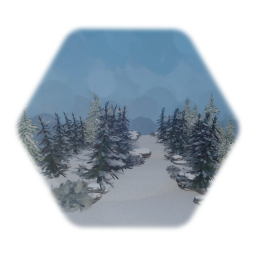 Winter Snow Forest Path Tile