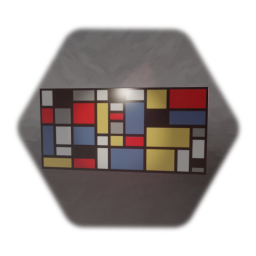 Piet Mondrian style composition Painting