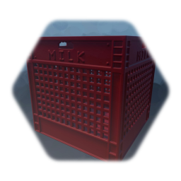 Milk Crate - Red Plastic - (Single Sculpt) (Low Thermo)