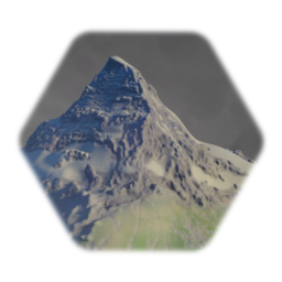 Detailed Matterhorn Mountain