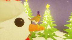 Snowman and Robin. VR and Non VR.