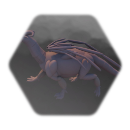 Dragon sculpture (To be animated)