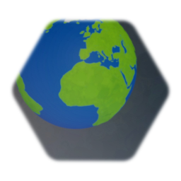 Blue and green earth sphere/globe