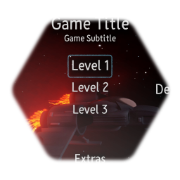 Space Menu/Title Screen Template (With SFX)