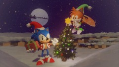Sonic The Hedgehog Christmas Diorama