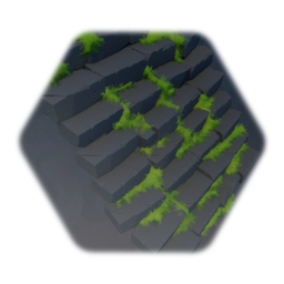 Stone stairs with grass