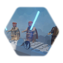 STAR WARS  Lego MINIFIGURE all of OBI WAN KENOBE padawan& jedi
