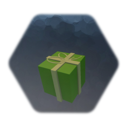 green gift - christmas present - package