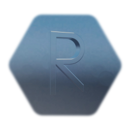 """""""R"""" (one block) metal letter"""