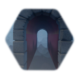 Long Medieval arched tunnel (Painted walls)