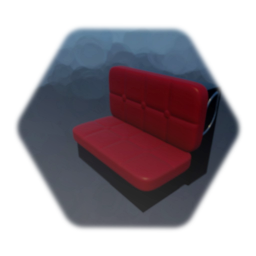 Bench Seat - Diner - Red Cushions