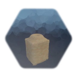 Sandstone Cube With Raised Bowl - 0,9x1,1x0,9
