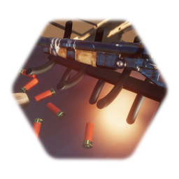 Double barrel shotgun (dirty)