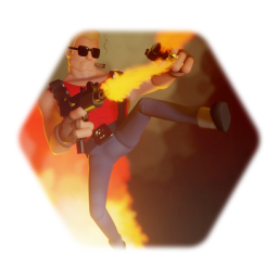 Cartoon Duke Nukem