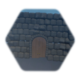 Stone Wall (Wooden Door)
