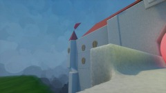 Mario must beat the enemies to go to the castle!