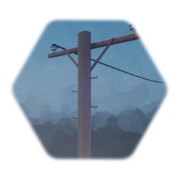 Telephone Pole with Wires