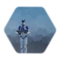 Remix of 501st clone trooper with weapon