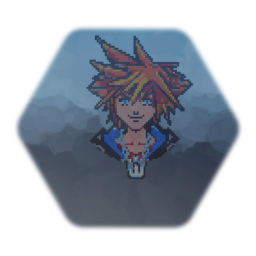 Sora, Limit Form - Pixel Art (Kingdom Hearts 2.5)