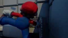Mario slips and falls out the window after a toaster accident