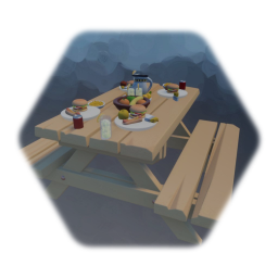 Remix of Picnic Table with food.