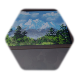 Simple Framed Painting