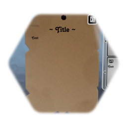 Dirty note with pin