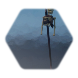 Impaled remains (Skeleton on a spike available)