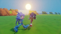 Lilac and Sonic Dash - Title Screen