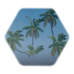 Coconut Palm V2 with Coconuts