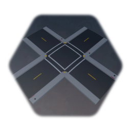 Single Lane Intersection With Roads