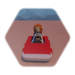 Belle in a go kart MRR3