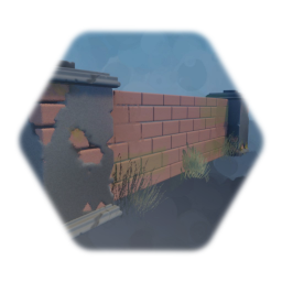 Brick fence - reduced gameplay thermo